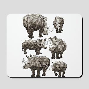 Geometric Rhino Mousepad