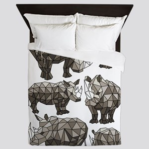 Geometric Rhino Queen Duvet