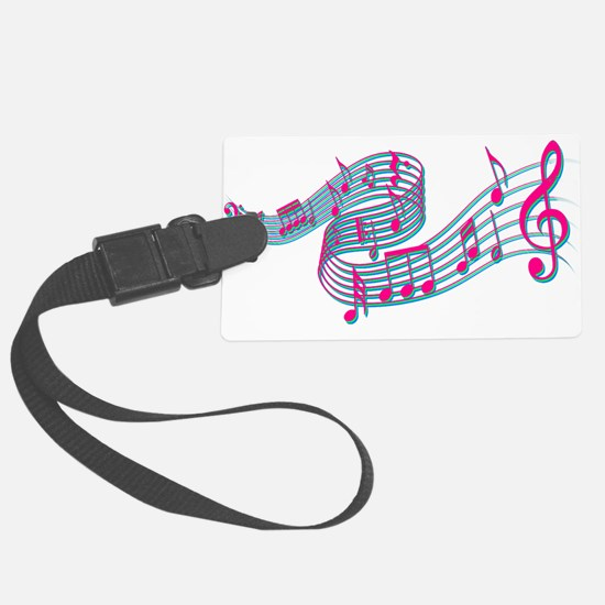 Flowing music Luggage Tag
