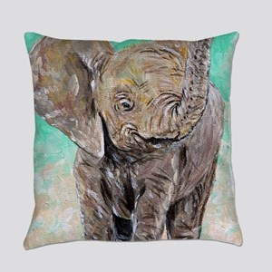 Baby Elephant Everyday Pillow
