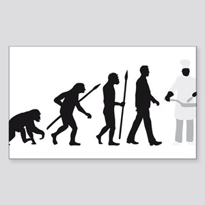Evolution of man chief cook Sticker