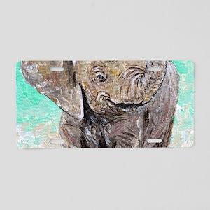 Baby Elephant Aluminum License Plate