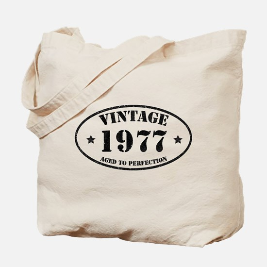 Vintage Aged to Perfection 1977 Tote Bag