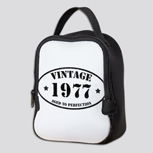 Vintage Aged to Perfection 1977 Neoprene Lunch Bag