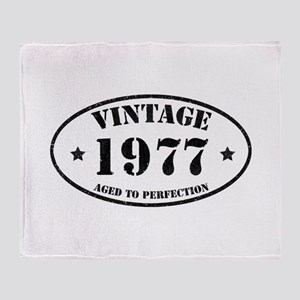 Vintage Aged to Perfection 1977 Throw Blanket
