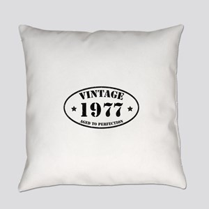 Vintage Aged to Perfection 1977 Everyday Pillow