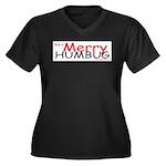 Merry Humbug Women's Plus Size V-Neck Dark T-Shirt
