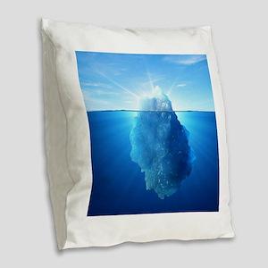 Iceberg Burlap Throw Pillow