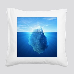 Iceberg Square Canvas Pillow
