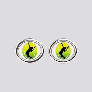 TENNIS Oval Cufflinks