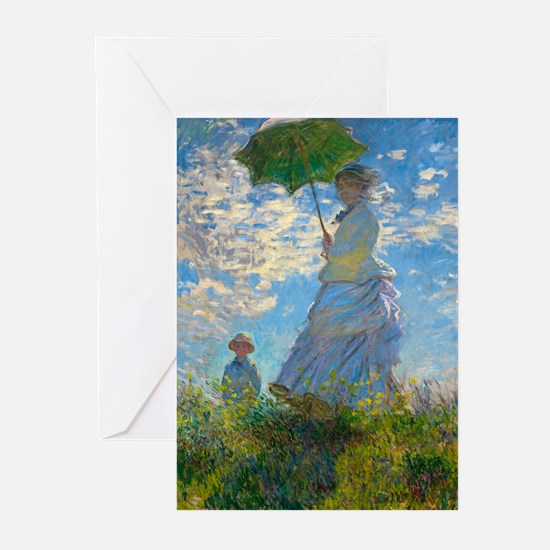 Woman with A Parasol by Claude Monet Greeting Card
