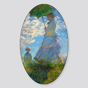 Woman with A Parasol by Claude Monet Sticker