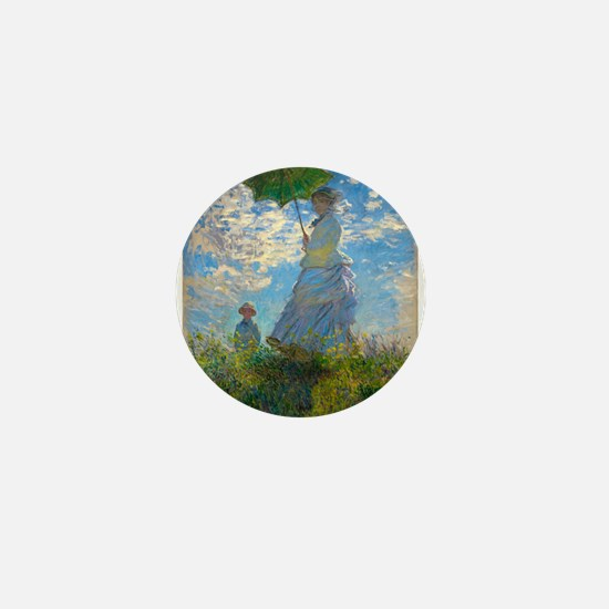 Woman with A Parasol by Claude Monet Mini Button