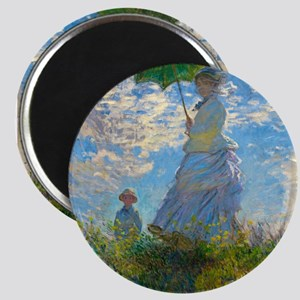 Woman with A Parasol by Claude Monet Magnets