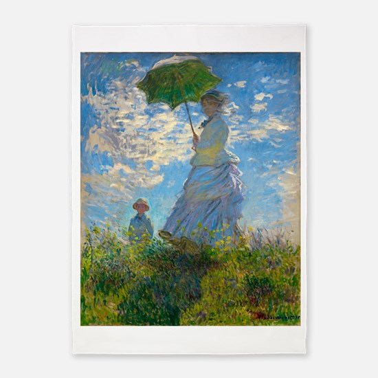 Woman with A Parasol by Claude Monet 5'x7'Area Rug