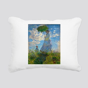 Woman with A Parasol by Claude Monet Rectangular C