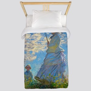 Woman with A Parasol by Claude Monet Twin Duvet