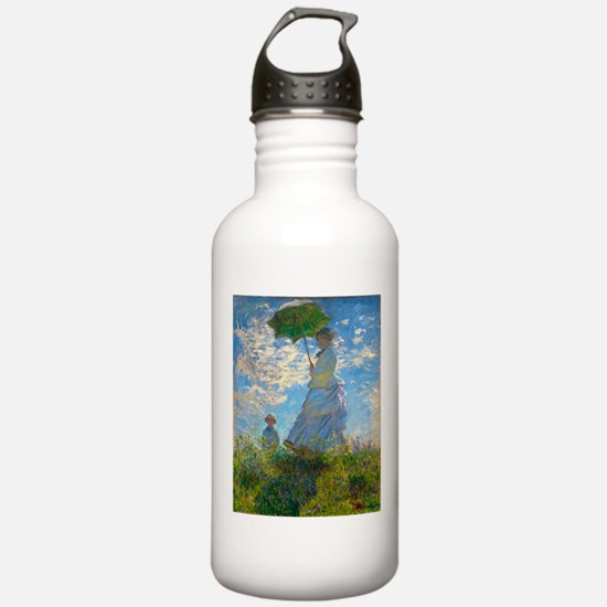Woman with A Parasol by Claude Monet Water Bottle