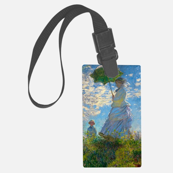 Woman with A Parasol by Claude Monet Luggage Tag