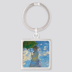 Woman with A Parasol by Claude Monet Keychains