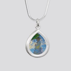 Woman with A Parasol by Claude Monet Necklaces
