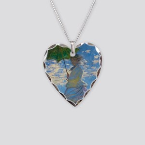 Woman with A Parasol by Claude Monet Necklace