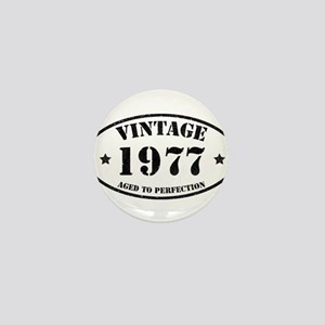 Vintage Aged to Perfection 1977 Mini Button