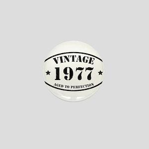 Vintage Aged to Perfection 1977 Mini Button