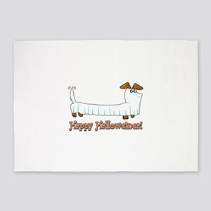 Happy Halloweiner 5'x7'Area Rug