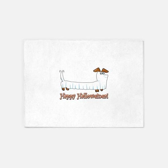 Happy Halloweiner 5'x7'Area Rug