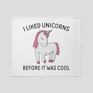 I Liked Unicorns Stadium Blanket