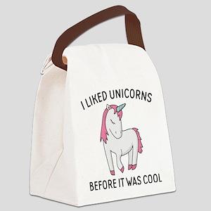I Liked Unicorns Canvas Lunch Bag