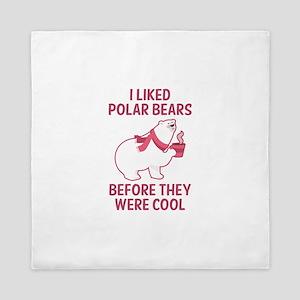 I Liked Polar Bears Queen Duvet