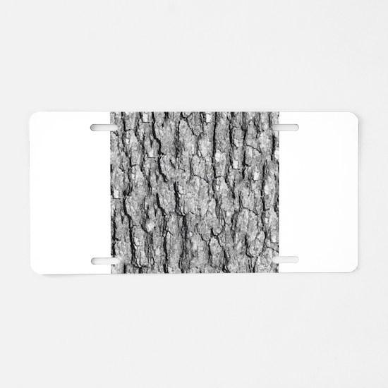 Bark Pattern Aluminum License Plate