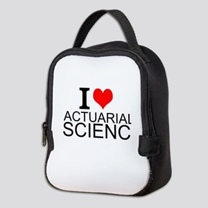 I Love Actuarial Science Neoprene Lunch Bag