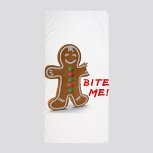 Gingerbread Person Cookie Beach Towel