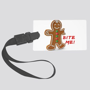 Gingerbread Person Cookie Large Luggage Tag