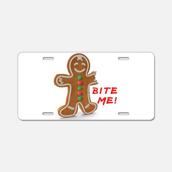 Gingerbread Person Cookie Aluminum License Plate
