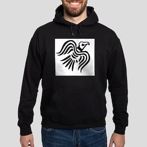 Viking Black Raven Hoodie (dark)