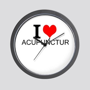 I Love Acupuncture Wall Clock