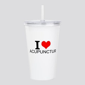 I Love Acupuncture Acrylic Double-wall Tumbler
