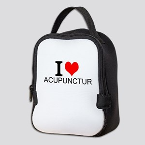 I Love Acupuncture Neoprene Lunch Bag