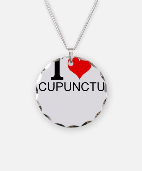 I Love Acupuncture Necklace