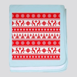 Christmas Holiday Nordic Pattern Cozy baby blanket