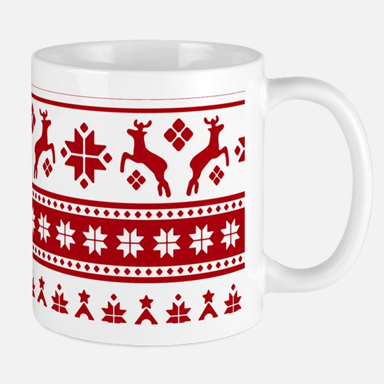 Christmas Holiday Nordic Pattern Cozy Mugs