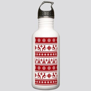 Christmas Holiday Nord Stainless Water Bottle 1.0L