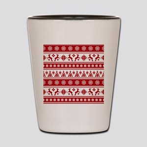 Christmas Holiday Nordic Pattern Cozy Shot Glass