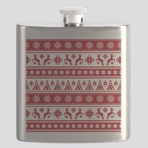 Christmas Holiday Nordic Pattern Cozy Flask
