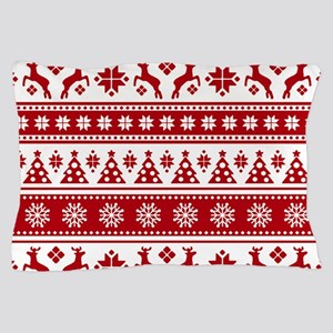 Christmas Holiday Nordic Pattern Cozy Pillow Case