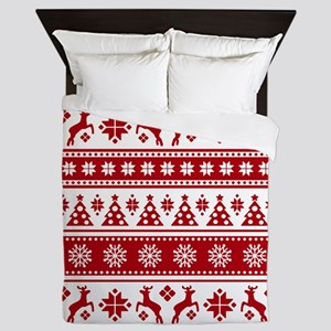 Christmas Holiday Nordic Pattern Cozy Queen Duvet